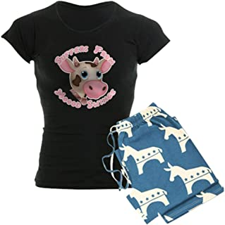 CafePress Mood Swing Cow Design Women's PJs