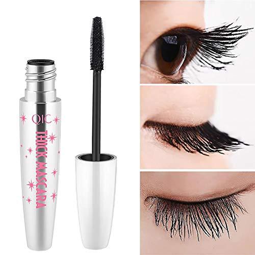 4D Silk Fiber Lash Waterproof Mascara, Extra Long Lash Mascara and Thick, Long Lasting, No fading