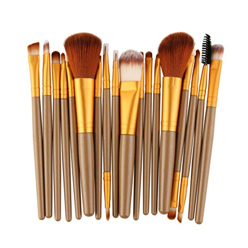 YunYoud 18 stücke Make-Up Pinsel Set werkzeuge Make-up Kulturbeutel Wolle welche make up pinsel...