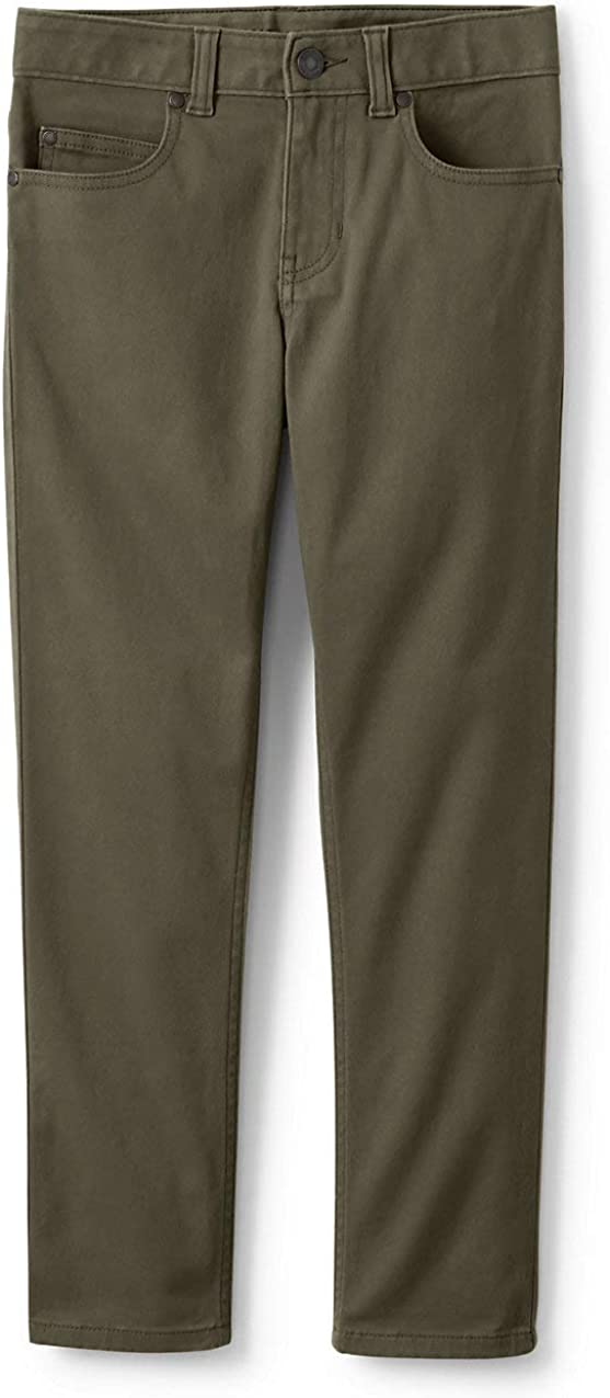 Lands' End Boys Iron Knee Stretch 5 Pocket Pants