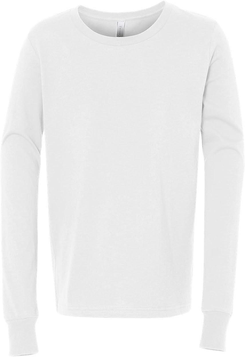 Bella Canvas Youth Jersey T-Shirt, WHITE, Medium
