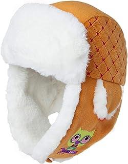 PLL オレンジ屋外帽子女性秋冬漫画イヤーマフ温かい航空機キャップスキーキャップ