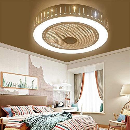 LightJH plafondventilator met lamp, druppelvorm, 72 W, creatief, onzichtbaar, led-plafondlamp, dimbaar, zeer stil, voor ventilator, voor kinderkamer