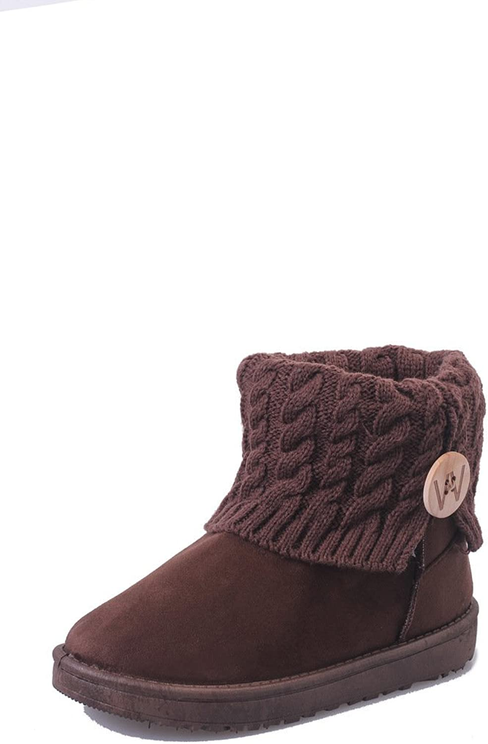 WYMBS Women's shoes Plush Snow Boots Keep Warm Thickening Leisure Short Boots