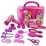 YUY Niñas Moda Hair Styling Dolls Head Play Set Niños Childs Toy Beauty Gift,Pink