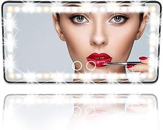 Car Visor Vanity Mirror Car Makeup Mirror with LED Lights for Car Truck SUV Rear View Mirror Sun-Shading Cosmetic Mirror B...