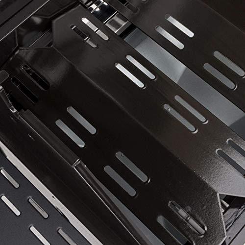 51xSduC01BL - LANDMANN Gasgrill Triton PTS 2.1 | Premium Gasgrill mit doppelwandigem Deckel & Deckelthermometer | Grillrost aus emailliertem Gusseisen für perfektes Grillbranding | LANDMANN PTS-System [Schwarz]