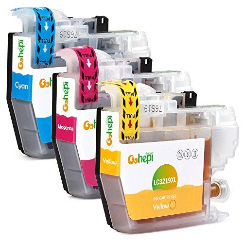 Gohepi Ersatz für Brother LC3219 LC3219XL Farbe Druckerpatronen Kompatibel für Brother MFC-J5330DW MFC-J5335DW MFC-J6530DW MFC-J6930DW MFC-J5730DW MFC-J5930DW MFC-J6935DW (1 Blau, 1 Rot, 1 Gelb)
