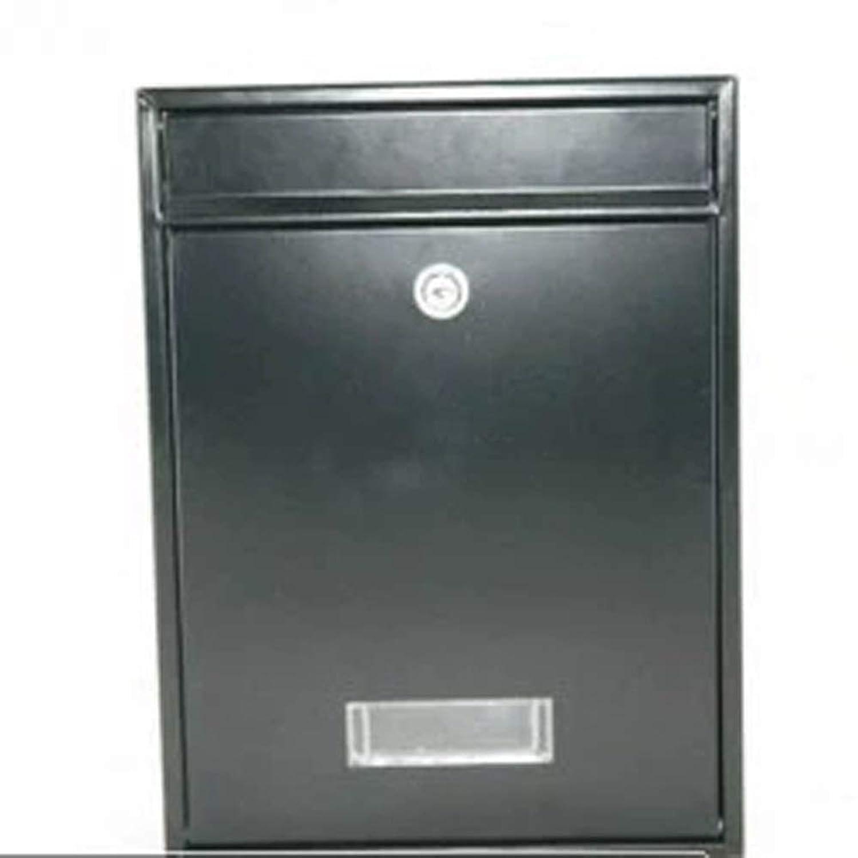 XJZxX パスワードロックメールボックスホーム新聞ボックス屋外防水防錆受信箱ヨーロッパのメールボックスクレームボックス (Color : Black)