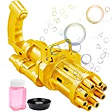 salipt Gatling, máquina de burbujas de 8 orificios, pistola de burbujas de juguete...