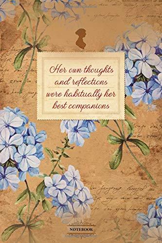Notebook: Diary I 120 pages plain I Jane Austen I Lady I Regency I 6x9 inch (corresponds to approx. DIN A5) I wedding I vintage I roses I romantic