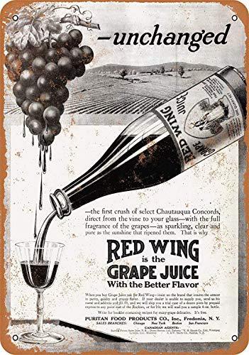 niet rode wijn druif sap tin muur teken metalen retro poster ijzer waarschuwingsborden vintage opknoping kunst plaque werf tuin cafe bar pub openbaar cadeau 8x12 inch
