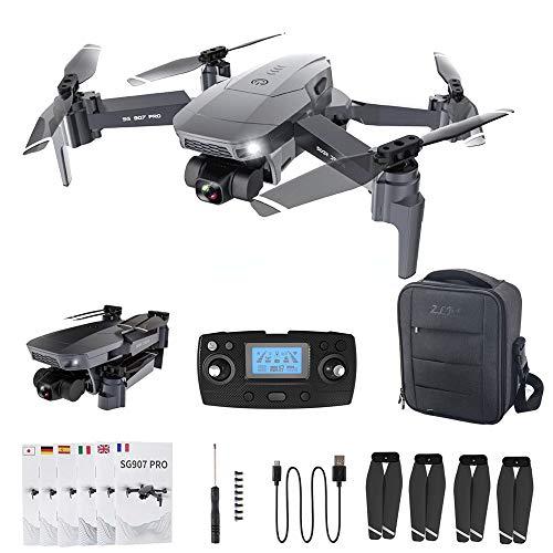 Sunbary 4K Drohne mit Doppel Kamera, 5G WiFi HD Faltbare RC Quadcopter Drohne mit GPS Folgen, Handgestenfotografie, Fotofilter, Höhenhalt, Start/Landung mit Einer Taste uws.