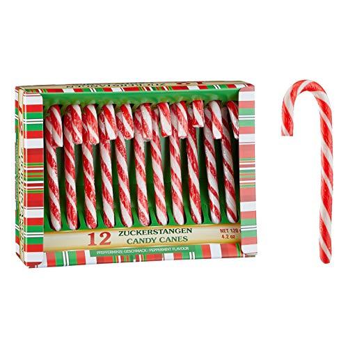 MC Trend Juego de 12 bastones de caramelo para decoración de árbol de Navidad, para regalos (juego de 12)