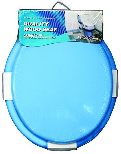 Aqua Plumb Aqua Plumb CTS100BL Round Wood Toilet Seat - Blue