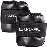 LAKARU(ラカル) アンクルウェイト リストウェイト パワーアンクル ダンベル 重り 足重り 足 おもり PU材質 手足両用 マジックテープ式 ダイエット エクササイズ ウォーキング 体幹トレーニング (3KG二個)