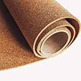 WidgetCo Cork Rolls - 1/8' Thick x 24' Wide x 30ft Length, Natural, Cut to Size, Arts & Crafts