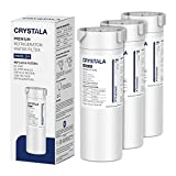 XWF Water Filter for GE Refrigerator, Crystala Filters NSF 42 Certified Compatible with Select GE french-door & Side by Side refrigerators, Replacement for GE XWF Genuine SmartWater (3 Pack)