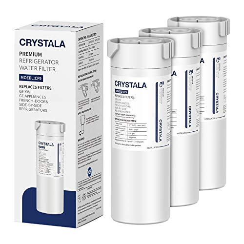 Crystala Filters XWF Replacement for GE XWF Refrigerator Water Filter, Pack of 3