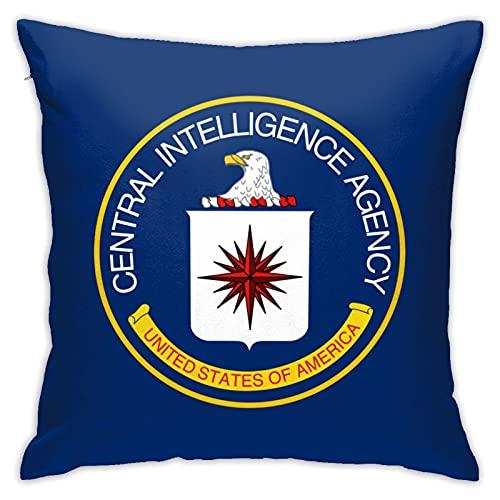 Central Intelligence Agency Cia - Funda de almohada decorativa para sofá dormitorio (45,7 x 45,7 cm)