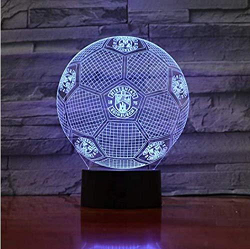 Voetbalteam Hibernian Edinburgh United 3D Illusion Led Nachtlampje Jongens Kinderen Babycadeaus Voetbal Premier League Tafellamp Nachtkastje