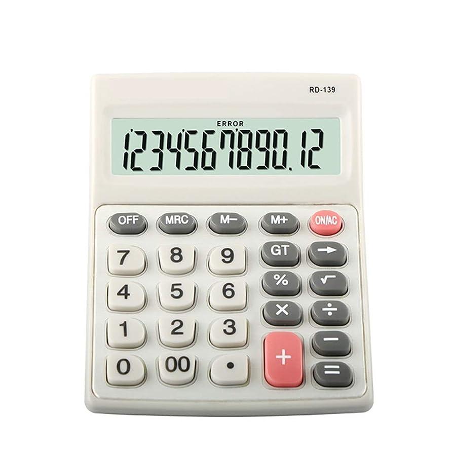 飲料一晩統治する電子式電卓 ミニビジネス電卓、12桁のソーラー電卓、標準機能エレクトロニクスデスクトップ電卓 コンパクトポータブル (色 : Photo Color, サイズ : ワンサイズ)