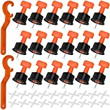 Sistema de nivelación de azulejos 100 piezas Reutilizable Espaciadores niveladores de azulejos separador de nivelador alicates nivelador de azulejos con 2 llave especial 200 cruces de azulejos