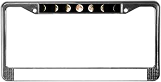 CafePress Composite Image of The Phases Chrome License Plate Frame, License Tag Holder