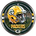 "NFL Chrome Clock, 12"" x 12"""