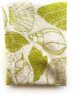 Noon Design Flour Sack Tea Towel in Unbleached Cotton (Sea Shells)