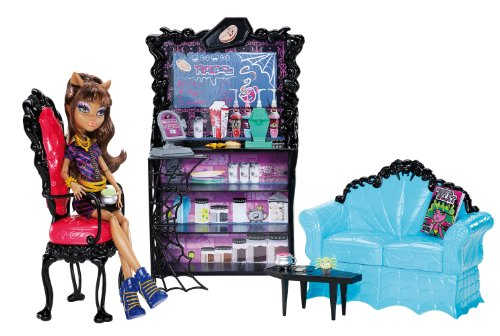 Mattel - Monster High - X3721 - poupées mannequins - Coffret Clawdeen et son café Post mortem (poupée incluse)
