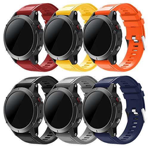 Sycreek Compatibile per Garmin Fenix 5 Cinturino in Silicone di Ricambio 22 mm Cinturino Sportivo ad Attacco Rapido per Fenix 6/Fenix 6 PRO/Fenix 5/Fenix 5 Plus/Forerunner 935