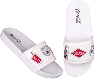 Chinelo Coca Cola Slide Patches - Branco