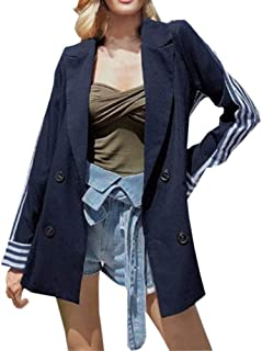 f364d4d2b7e SUNNSEAN Abrigos Mujer Blazer Capa Moda Manga Larga Abrigos Chaqueta Traje  Cárdigan, Blanco, Negro
