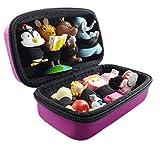 Bolsa de transporte para tonies, color rosa, adecuada cajas tonia: espacio hasta 8 figuras tonía, bolsa transporte, caja tonificación, viaje, maletín