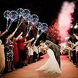 ZMYGOLON 4 PCS Luftballons, 45,7 cm/ 3 m (18 Zoll/9,84 Fuß), LED-Ballons, mit Halterungsstäben, für Geburtstage, Hochzeiten, Feste, Dekoration, Mehrfarbig - 2
