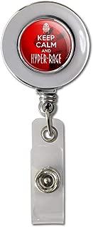 Farscape Keep Calm and Hyper-Rage Ka D'Argo Luxan Retractable Reel Chrome Badge ID Card Holder Clip