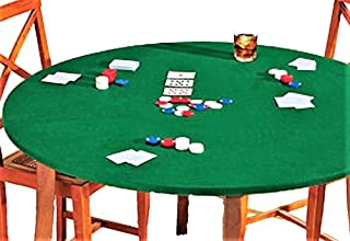 Fitted Round Elastic Edge Solid Green Felt Bistro High Top Table Size Fits 24