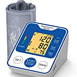 Blood Pressure Monitor, Mosafe Upper Arm Blood Pressure Monitors Cuff Automatic Digital BP Large Cuff Portable Machine with Large Screen 2x120 Memory for Home Use