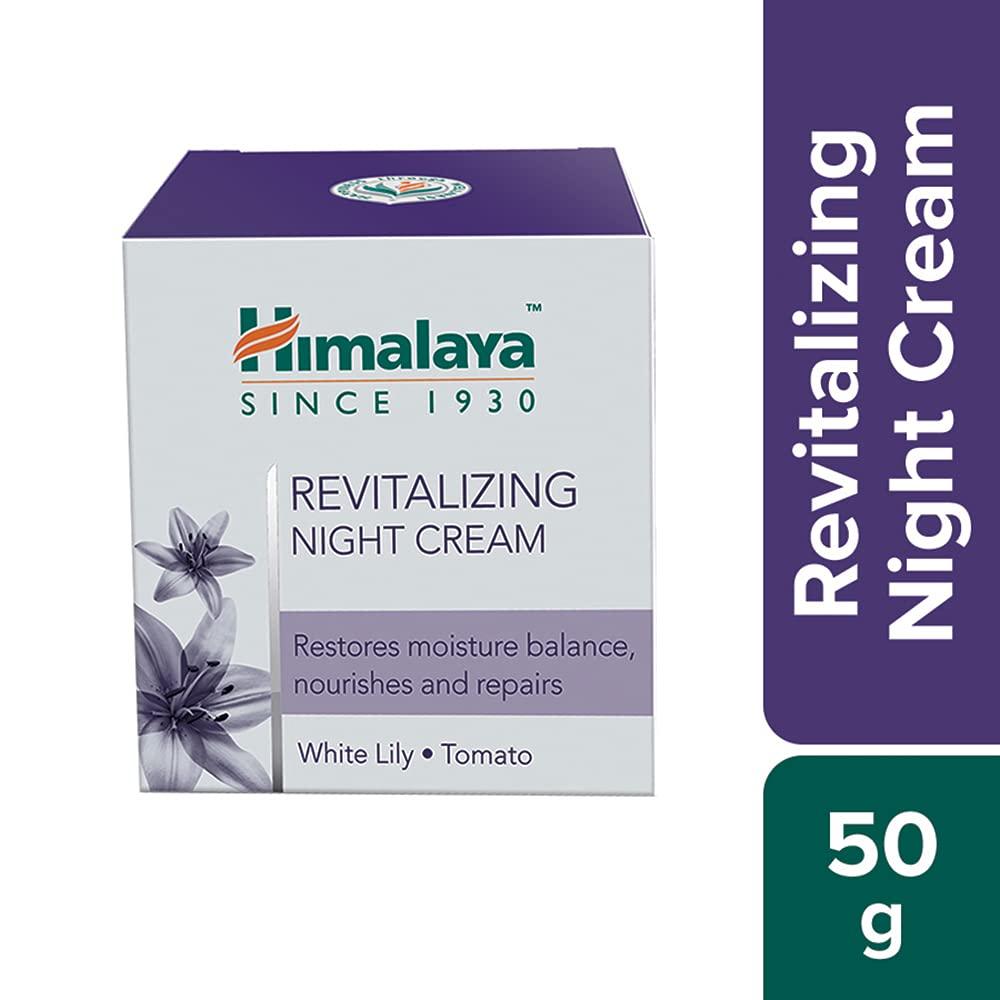 Himalaya Revitalizing Night Cream for Damaged & Aging Skin, Daily Deep Moisturizing Overnight Repair Treatment,