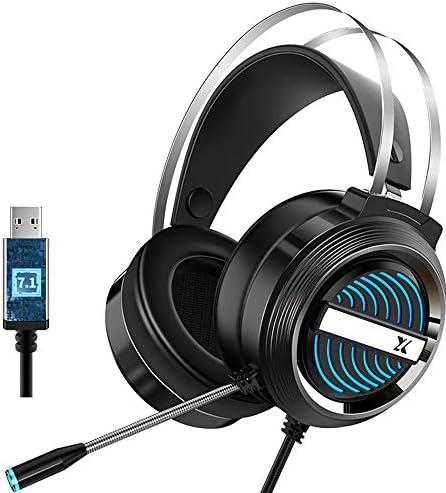 Docooler Stereo gaming headset gaming hoofdtelefoon volumeregelaar met microfoonledlicht voor computer pc