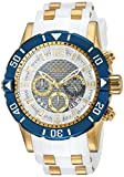 Invicta Men's Pro Diver Stainless Steel Quartz Diving Watch with Polyurethane Strap, Two Tone, 26 (Model: 23706)
