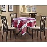 Tovaglia in tessuto jacquard Sommelier trattata, teflon, rotonda, 180 cm, colore: rosso e beige