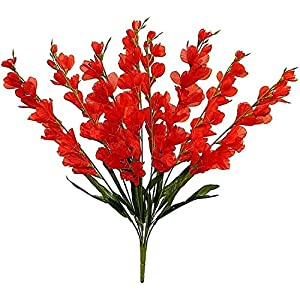Gladiolus Artificial Flowers 26″ Tall Tropical Arrangement Fake Silk Glads Faux Artificial Flower