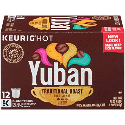 Yuban Traditional Medium Roast K-Cup Coffee Pods (12 Pods)