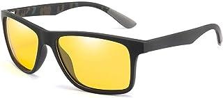 ZMP Driving Men's Polarized Sunglasses UV Protection Unisex Sunglasses Fashion Sunglasses (Color : Yellow)