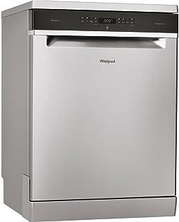 Whirlpool WFO 3033 DX Independiente 14cubiertos A+++ lavavajilla - Lavavajillas (Independiente, Acero inoxidable, Tamaño completo (60 cm), Negro, Acero inoxidable, Botones, LCD)