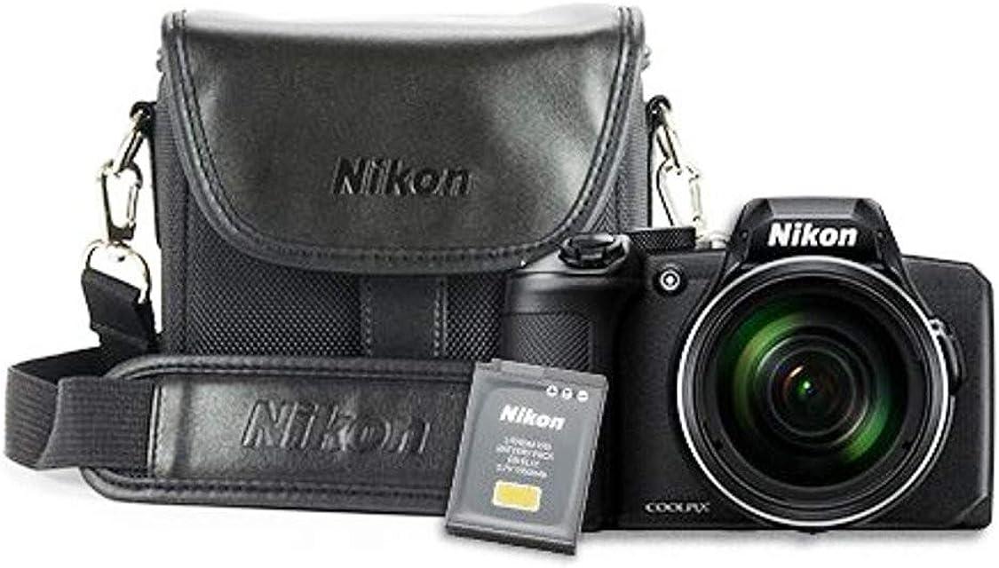 Nikon Coolpix B600 VQA090EAK1 - Cámara Bridge de 16 MP (Full HD 1080/30p Sonido Estéreo SnapBridge LCD autofoco) - Kit con Estuche Tarjeta SD y Libro - Versión Nikonistas