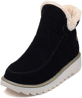 [NEOKER] スノーブーツ ショットブーツ レディーズ 冬用 裏ボア 防寒ブーツ 保温 滑り止め 歩き安い スエード ムートンブーツ 3cm厚底ブーツ 疲れない 裏起毛 冬用 カジュアル 綿靴 雪靴 通学 通勤用 アウトドアブーツ