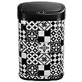 KITCHEN MOVE bat-58l Tile Black Basura automático de Cocina azulejo 58L de Cemento, Acero Inoxidable, Negro, 40,9x 28,9x 64,5cm